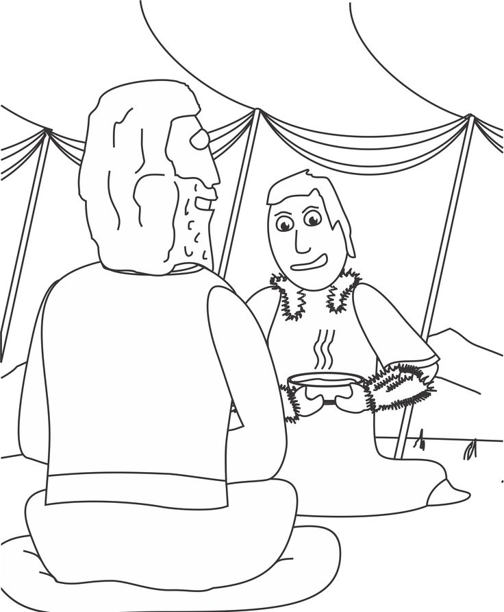 coloring pages jacob and esau - photo#18