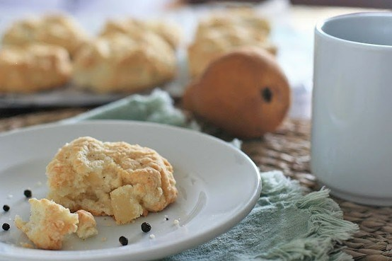 Peppered Pear And Goat Cheese Scones | Appetizers | Pinterest