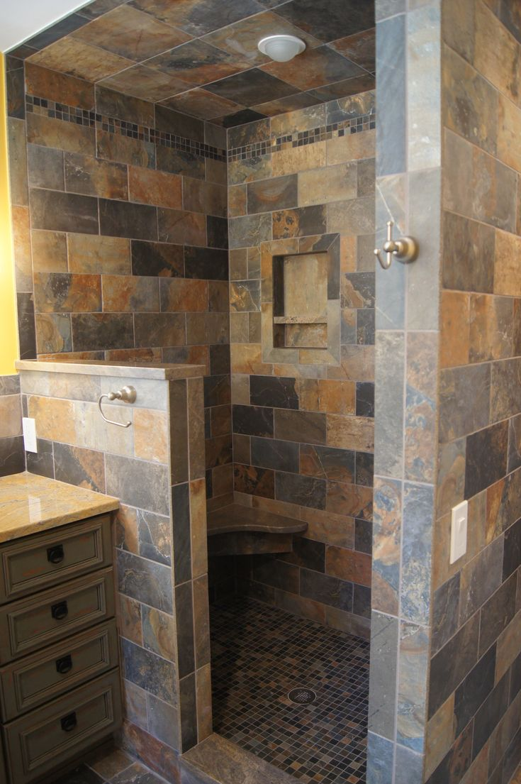 Open Shower Bathroom Remodel Pinterest
