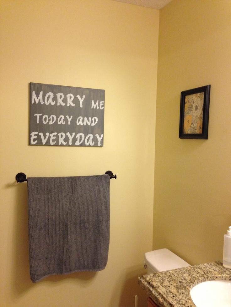 Bathroom Canvas Canvas Art Marry Me Craftiness Pinterest