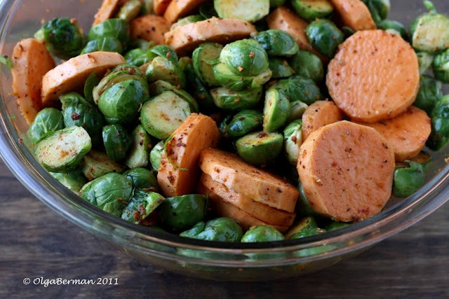 roasted s.potatoes & b.sprouts | yum | Pinterest
