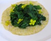 Mustard greens & corn grits | Kale | Pinterest