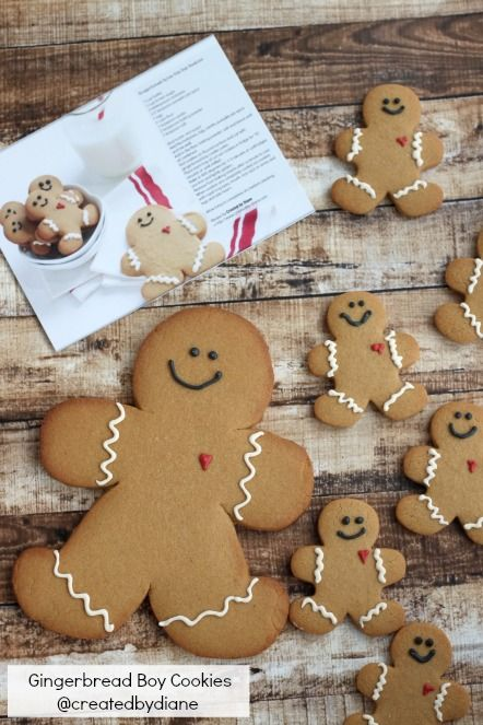 Gingerbread Boy Cookies@createdbydiane