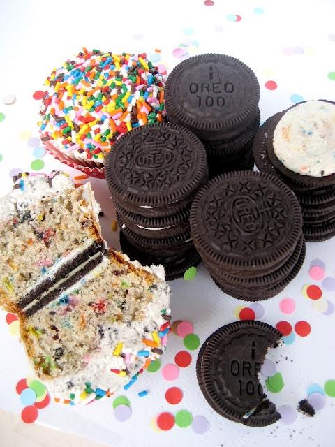 Birthday Cake Oreo Cupcakes