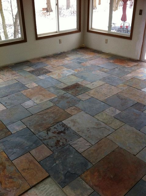 Tile and wood flooring pictures to pin on pinterest - Slate Tile Pattern