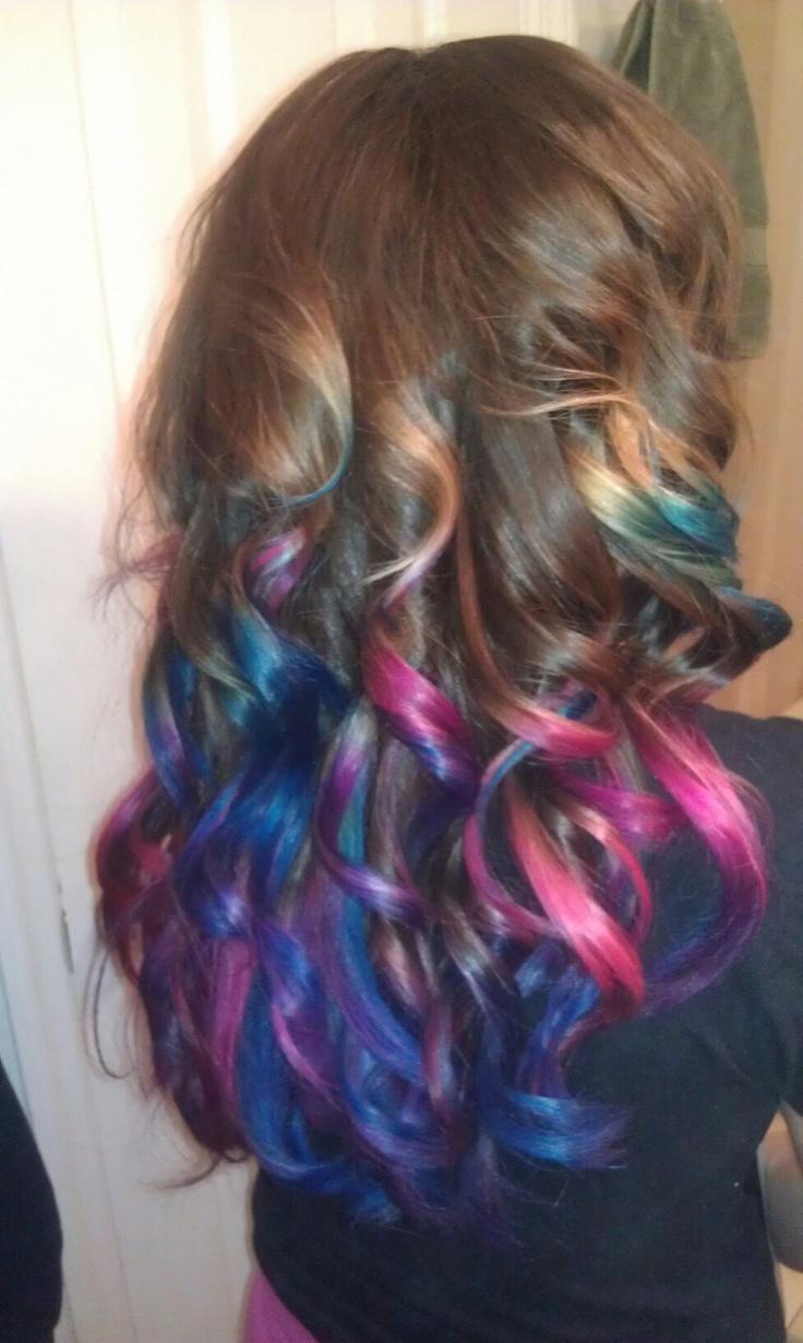 pink amp blue ombre hair hair pinterest