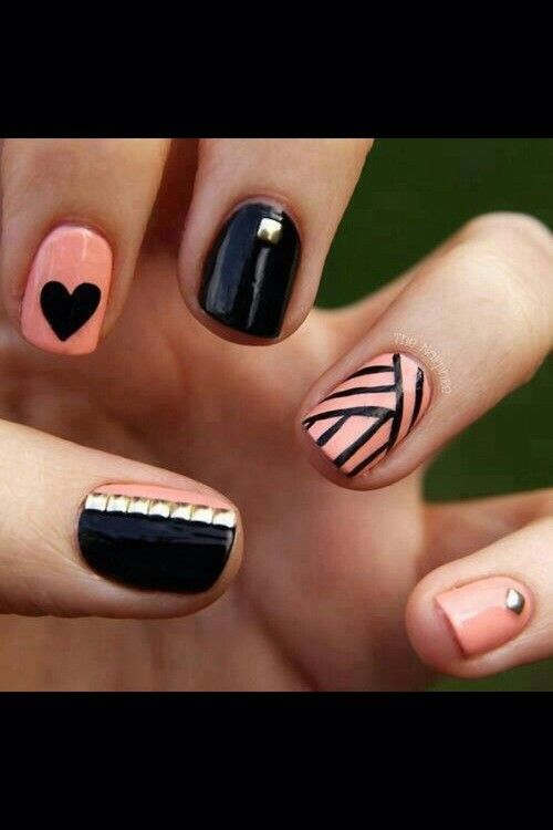 Black and light pink nail designLight Pink Nail Designs Pinterest