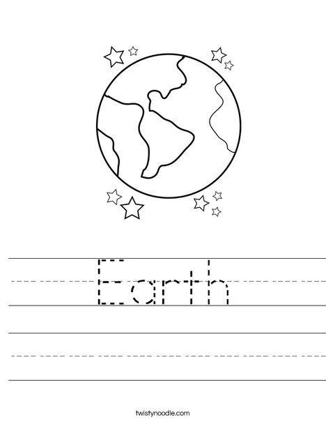 Earth Worksheet | Kids Learning | Pinterest
