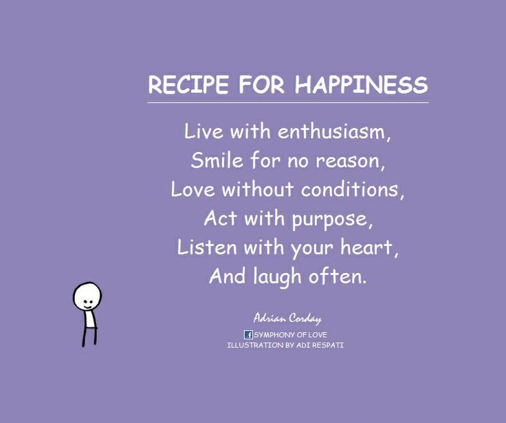 Happy Quotes, recipe for happiness!