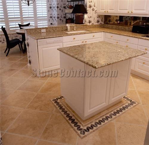 Travertine floors in kitchen dream home ideas pinterest Travertine kitchen floor ideas