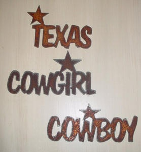 Metal - Texas, Cowgirl & Cowboy Magnet $11.95