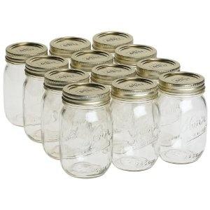 Kerr mason jar, pint 16oz.: Candles, infusions, soaks, scrubs... the list never ends