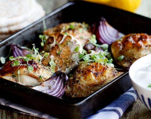 Greek Style Garlic Chicken Breast Recipe — Dishmaps