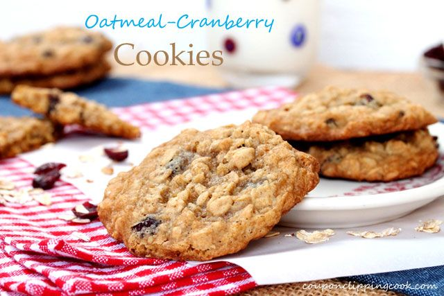 Oatmeal Cranberry Cookies | Cookies | Pinterest