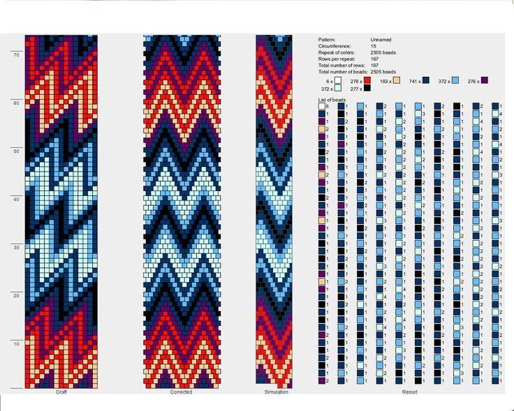 Узор бисер вязание