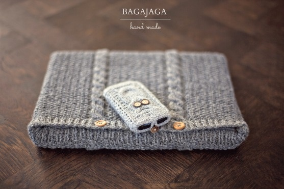 Laptop Bag Knitting Pattern : phone, laptop, bag, knitted, hand made, wool, gray, owl http ... Images - Frompo