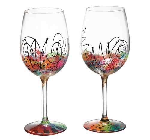 Hand painted wine glass mardi gras glass painting Images of painted wine glasses