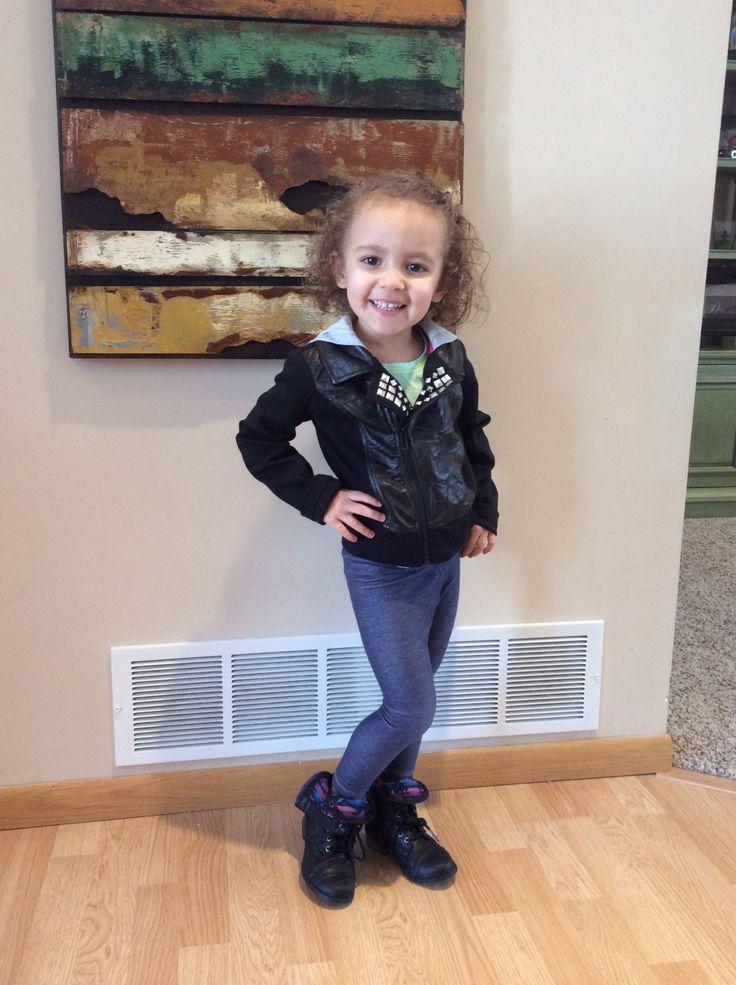 Little girl combat boots