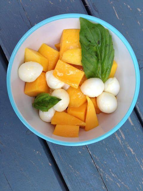 Mango Caprese Salad | Soup & Salad | Pinterest