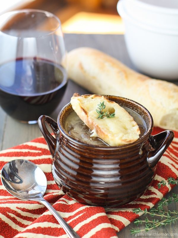 Easy French Onion Soup by Garnish with Lemon