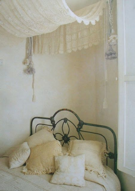 bohemian, bed, bedroom,