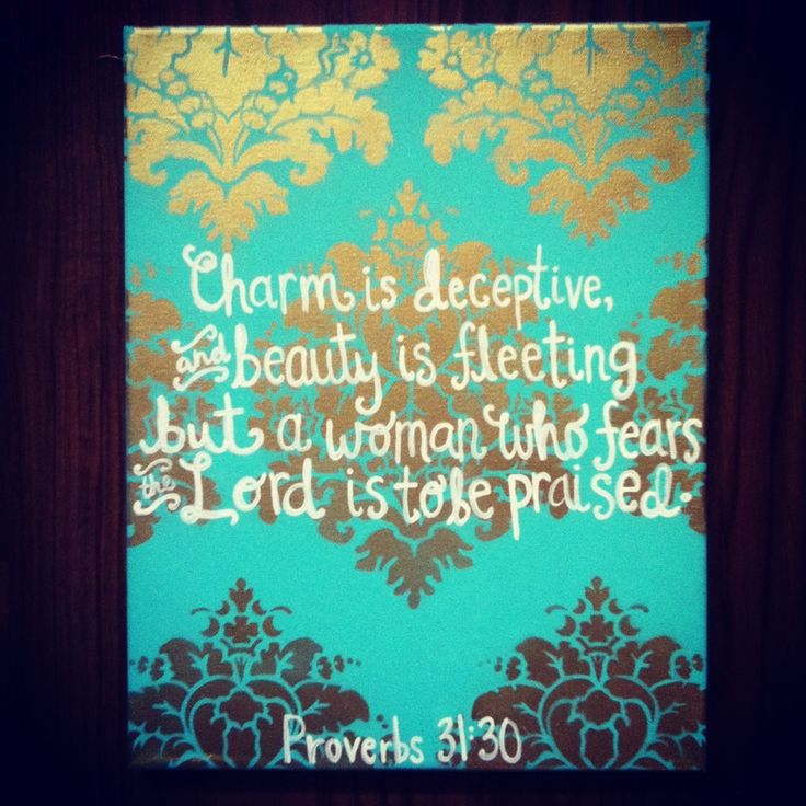 Proverbs 31 30 bible verses on canvases pinterest