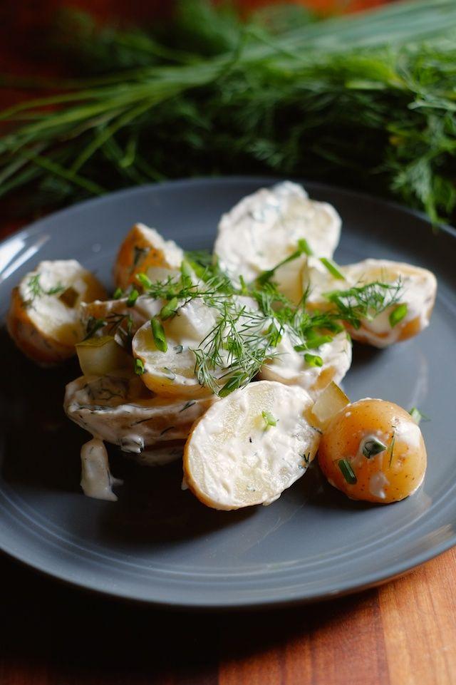 Dill Pickle Potato Salad   Sweet Salty Tart