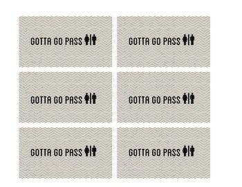 Printable Bathroom Pass School Stuff Rocks Pinterest