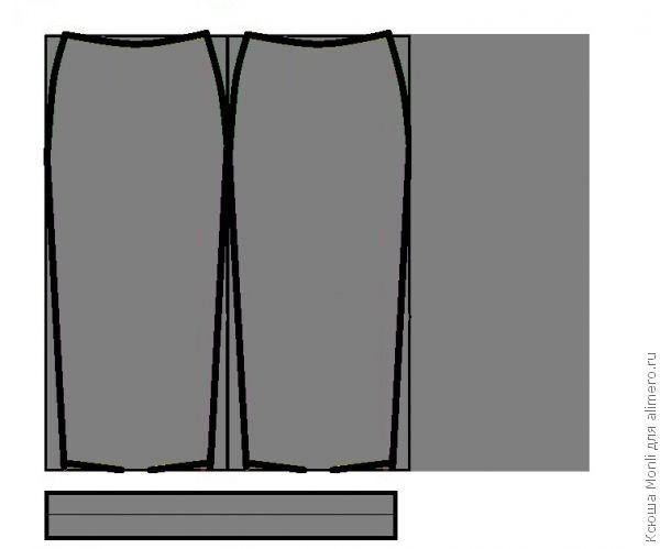 Выкрока длинной юбки из шифона