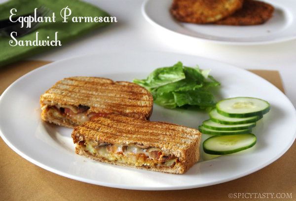Eggplant Parmesan Sandwich - bet it would be great with avocado, too!