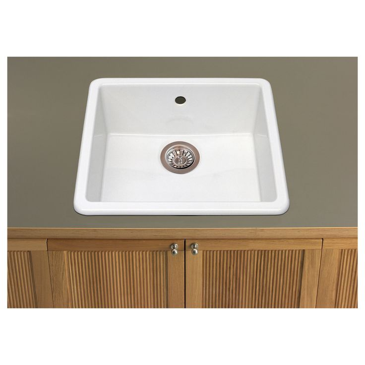 ... inset sink - IKEA $105.99...has overflow...good idea for laundry room