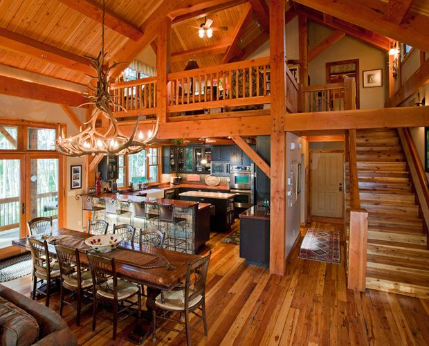 Beautiful Log Cabin Dining Room Country Livin Pinterest