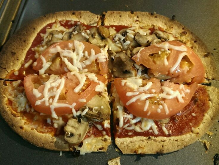 Mushroom Tomato Flatbread Pizza Recipe — Dishmaps