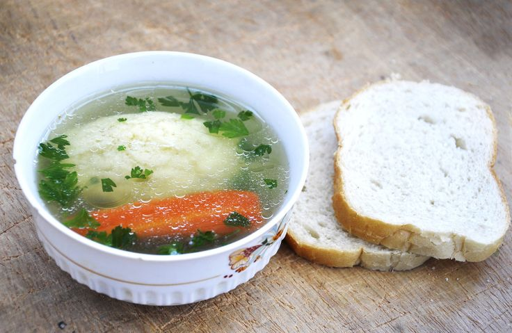Veggie Soup with Semolina Dumplings | Healthy | Pinterest