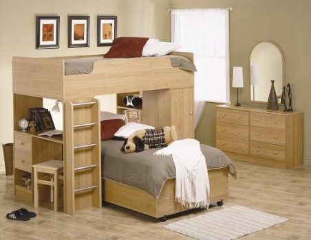 Bunk bed/desk combo  Organization and Planning  Pinterest
