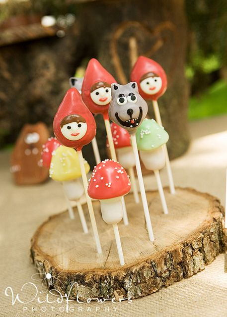 Little Red Riding Hood Cake Pops by Terri's Party Treasures, via Flickr