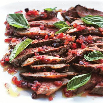 Grilled Butterflied Leg of Lamb with Tomato-Fennel Vinaigrette This is ...