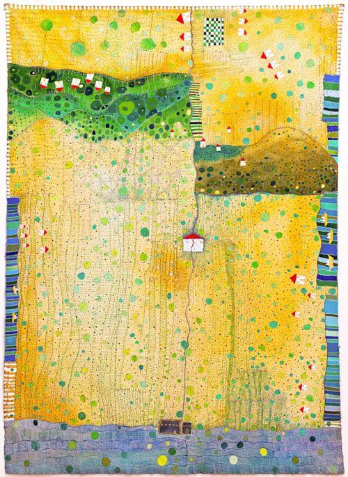 """Tarik el Sham by Huguette Caland  80.75""""x57.75"""" mixed media on canvas, 2010"""