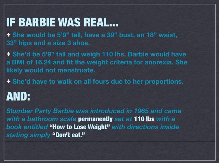 Barbie. Never could be real!
