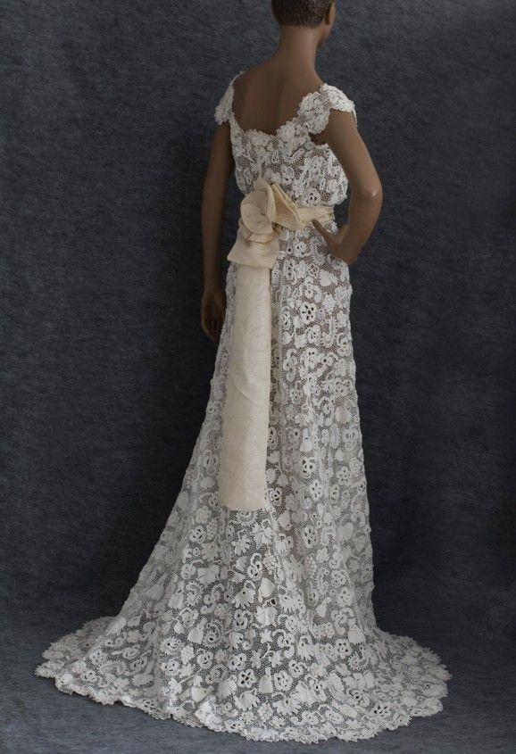 Irish crochet lace wedding dress, c.1912 Fancy Pinterest