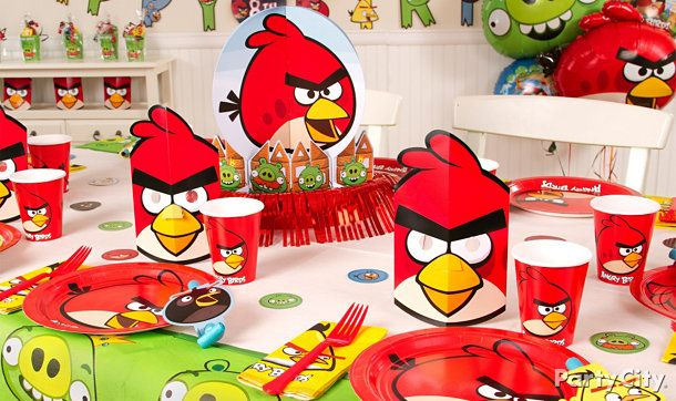 Angry birds party ideas supplies party theme angry for Angry birds birthday party decoration ideas