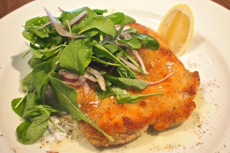 Chicken Milanese with Arugula Salad | FAV Entrees | Pinterest