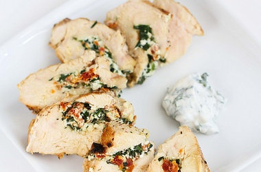 Stuffed Chicken Breast with Goat Cheese, Sun-Dried Tomatoes & Spinach ...