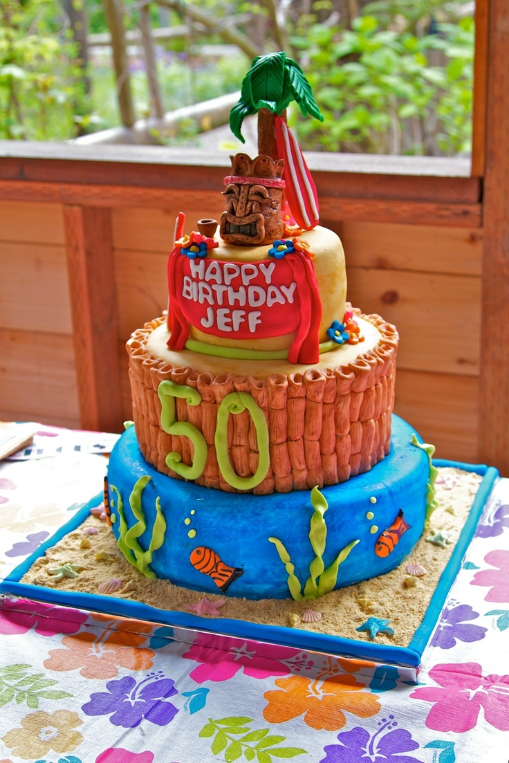 50th Birthday Luau Party Ideas Pinterest