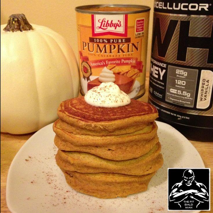 Pumpkin Spice Protein Pancakes | Health Junkie | Pinterest