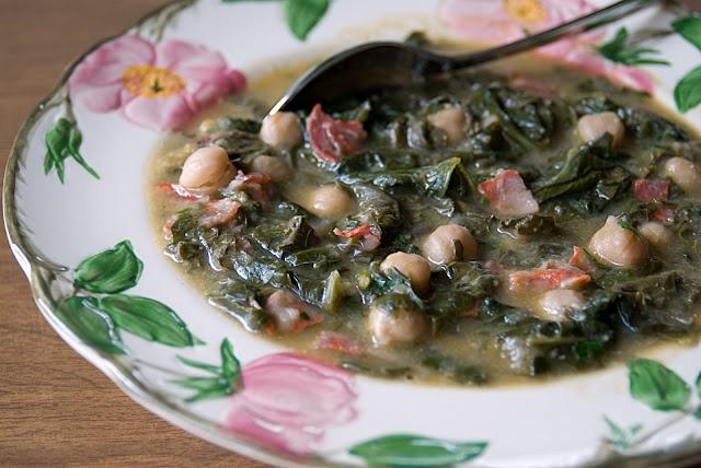 chickpea, chorizo & greens soup   The Savory   Pinterest