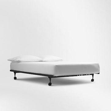 simple metal frame  Simple Metal Bed Frame #westelm