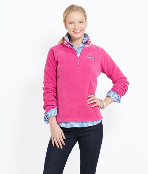 Ribbon Neck Fleece 1/4-Zip