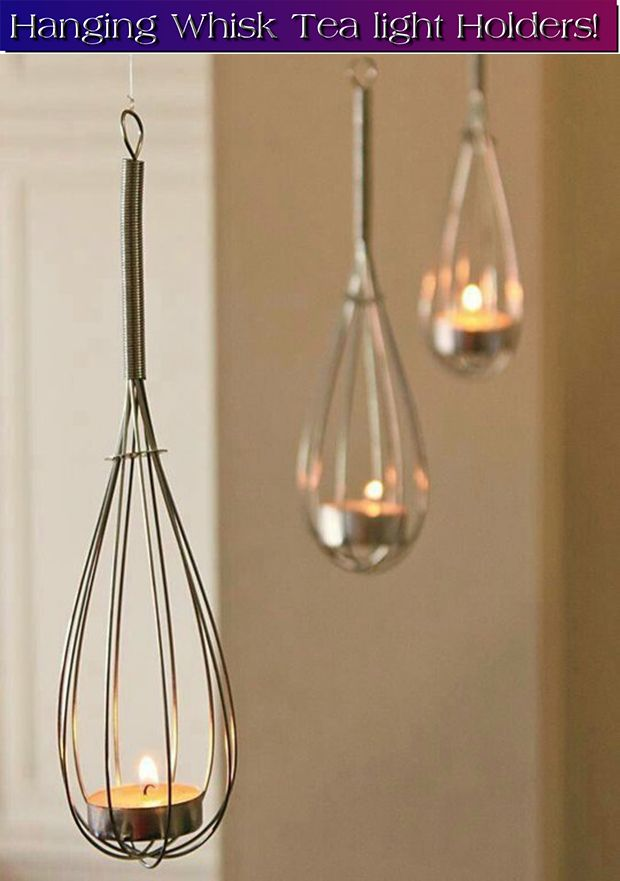Hanging Whisk Tea Light Holders Art And Craft Pinterest
