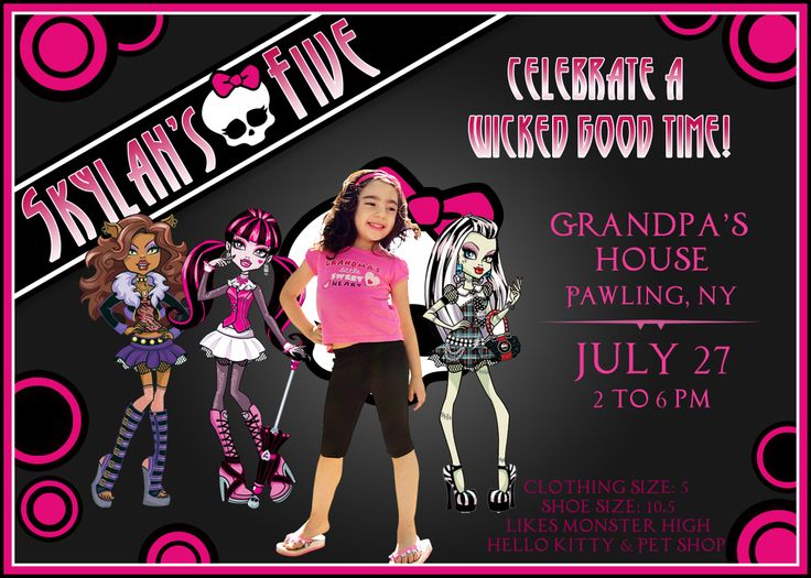 Monster High Birthday Invitations for beautiful invitation sample